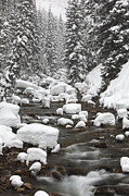 Bridger Teton Framed Prints - Granite Creek In Winter, Briger-teton Framed Print by Drew Rush