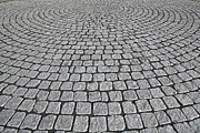 Patterned Pavement Posters - Granite Paving Poster by Carlos Dominguez