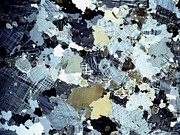 Polarized Prints - Granite Rock, Light Micrograph Print by Dirk Wiersma