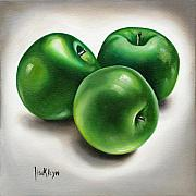 Ilse Kleyn Metal Prints - Granny Smith Apples Metal Print by Ilse Kleyn