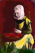 Apple Inc. Posters - Granny Smith Poster by Charles Shoup