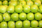 Food And Beverage Photo Originals - Granny Smiths by Mia Alexander