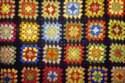 Hand-knitted Photos - Granny Square Afghan by Nancy Hoyt Belcher