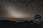 Zodiacal Framed Prints - Grantecan Telescope And Zodiacal Light Framed Print by Alex Cherney, Terrastro.com