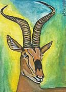 Gazelle Paintings - Grants Gazelle by Ken Nganga