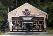 Country Store Painting Framed Prints - Granville Country Store Front View Framed Print by Nancy Griswold