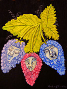 Blue Grapes Posters - Grape People Poster by Gordon Wendling