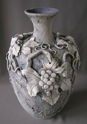 Winery Ceramics - Grape Vase by Anna Russell
