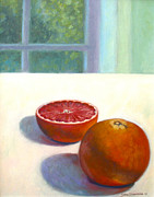 Grapefruit Paintings - Grapefruits by Jane  Simonson