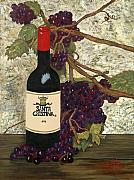 Grape Vines Originals - Grapes and Wine by SheRok Williams