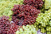 Concord Grapes Metal Prints - Grapes at a Market Stall Metal Print by Jeremy Woodhouse