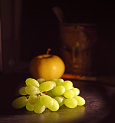 Chardonnay Posters - Grapes  Poster by Davor Sintic