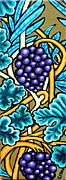 Vine Leaves Posters - Grapes Poster by Genevieve Esson