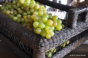 Harare Acrylic Prints - Grapes in a Basket Acrylic Print by Cheryl Perretti