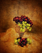 Green Grapes Framed Prints - Grapes Framed Print by Jai Johnson