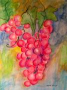 Vine Paintings - Grapes by Marita McVeigh