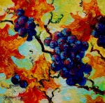 Wine Vineyard Paintings - Grapes Mini by Marion Rose