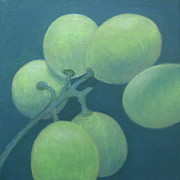 White Grape Painting Prints - Grapes No. 15 Print by Kazumi Whitemoon