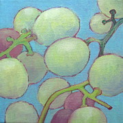 White Grape Paintings - Grapes No. 16 by Kazumi Whitemoon