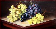 Het Paintings - Grapes on the table by Sabrina Garzelli