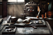 Typographic  Photos - Graphic Artist - At the Printers Office by Mike Savad