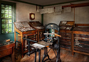 Graphic Artist - The Print Office - 1750  Print by Mike Savad