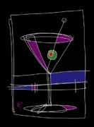 Cocktails Framed Prints - Graphic Martini Framed Print by Russell Pierce