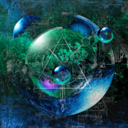 Blue Digital Art - Graphic Mess by Franziskus Pfleghart