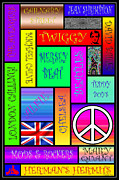 Psychadelic Framed Prints - Graphic Sixties London Framed Print by Andrew Fare