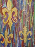 Mardi Gras Paintings - Gras de Lis by Made by Marley