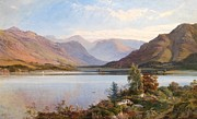 Mountain Valley Painting Framed Prints - Grasmere Framed Print by Henry Moore