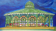 Asbury Park Painting Metal Prints - Grasping the Memories Metal Print by Patricia Arroyo
