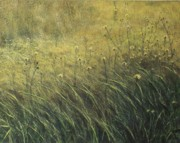 Acrylic On Canvas Board Paintings - Grass Practice by Hugh Castagnari