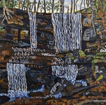 Falls Paintings - Grassy Creek Falls by Micah Mullen