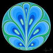 Mandalas Paintings - Gratitude by Angela Treat Lyon