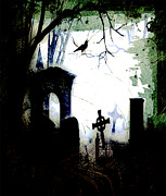 Cemetery Drawings Posters - Grave Situation Poster by Carl Rolfe