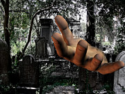 Tombs Digital Art - Grave Yard Hand by Tea Aira