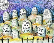 Grave Yard Print by Sylvia Pimental