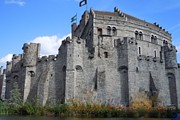 Medieval Castle Photos - Gravensteen Castle Gent Belgium by Marilyn Dunlap