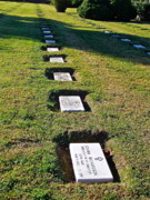 Tombstones Prints - Graves in Formation Print by E Robert Dee