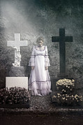 Ghostly Metal Prints - Graves Metal Print by Joana Kruse