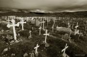 Cemetary Posters - Graveyard at Illulissat Poster by Robert Lacy