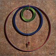 Hoop Painting Prints - Gravity One Print by Horacio Cardozo