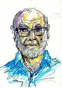 Glasses Pastels - Gray Beard and Glasses by Edward Farber