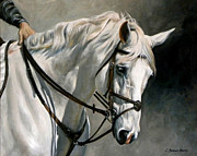 Sporting Art Originals - Gray by Carole Andreen-Harris