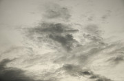 Clouds Photographs Posters - Gray sky Poster by Lyubomir Kanelov