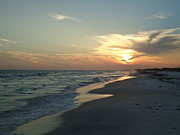 Grayton Beach Posters - Grayton beach sunset Poster by April Murray