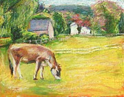 Farm Pastels - Grazing Cows by Bethany Bryant