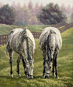 Jockey Paintings - Grazing by Thomas Allen Pauly