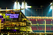 Cincinnati Cincinnati Reds Prints - Great American Ballpark Print by Keith Allen